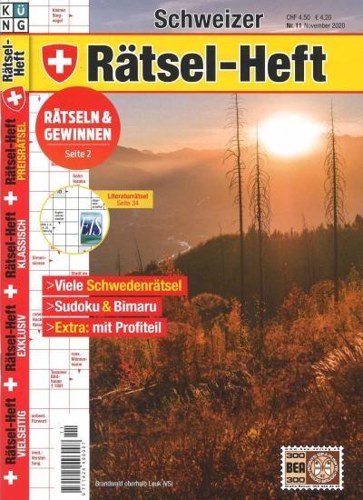 SCHWEIZER RÄTSEL-HEFT 11/2020