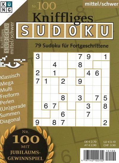 KNIFFLIGES SUDOKU 100/2021