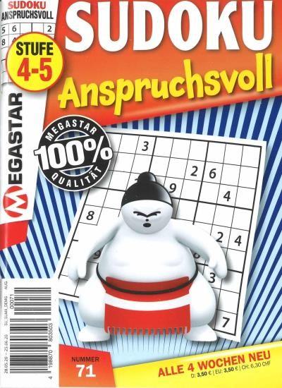 SUDOKU ANSPRUCHSVOLL 71/2020