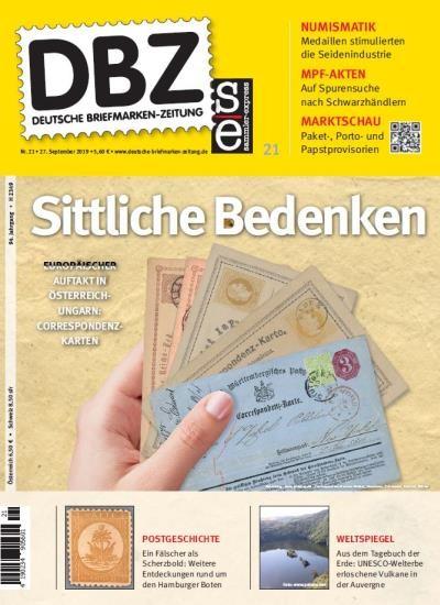 DBZ DEUTSCHE BRIEFMARKEN-ZEITUNG 21/2019