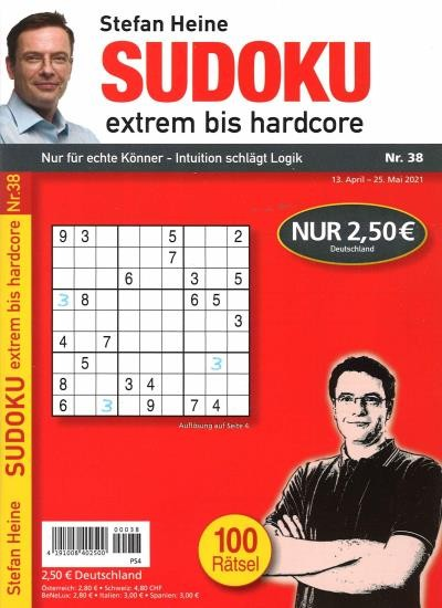 SUDOKU EXTREM BIS HARDCORE 38/2021