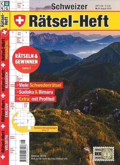 SCHWEIZER RÄTSEL-HEFT 8/2020