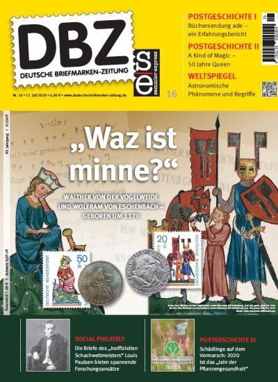 DBZ DEUTSCHE BRIEFMARKEN-ZEITUNG 16/2020