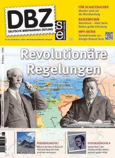 DBZ DEUTSCHE BRIEFMARKEN-ZEITUNG 16/2019