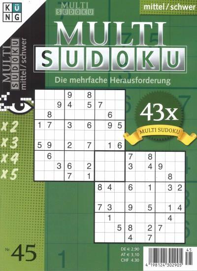 MULTI SUDOKU 45/2020