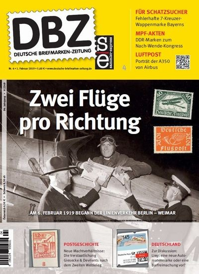 DBZ DEUTSCHE BRIEFMARKEN-ZEITUNG 4/2019