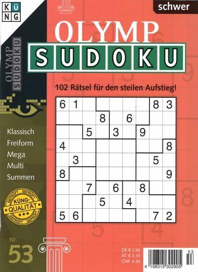 OLYMP SUDOKU 53/2021
