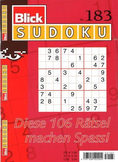 BLICK SUDOKU 183/2021