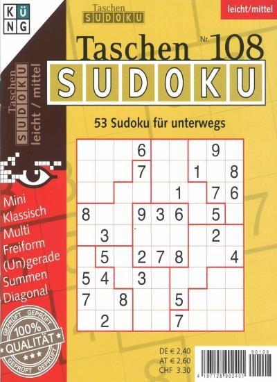TASCHEN-SUDOKU 108/2020