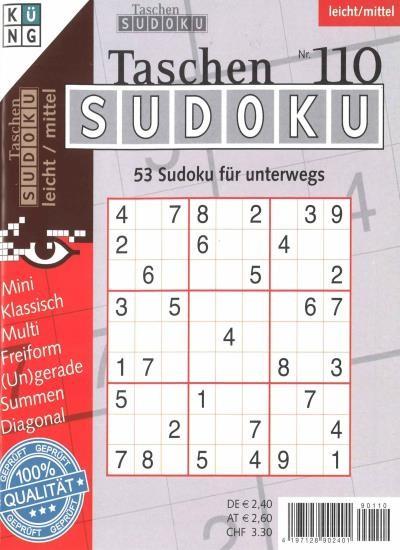 TASCHEN-SUDOKU 110/2020