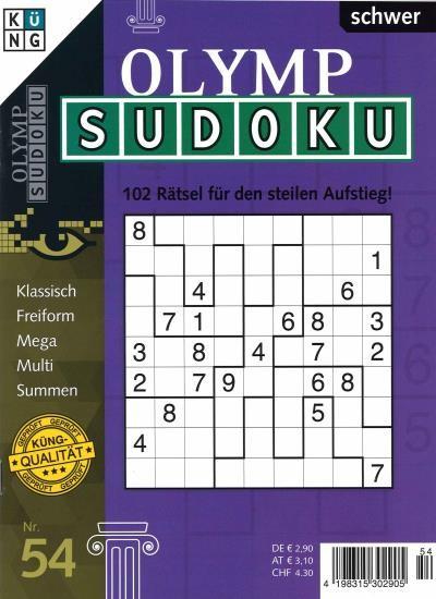 OLYMP SUDOKU 54/2021