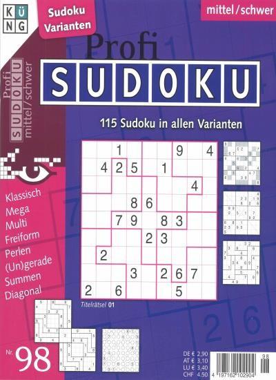 PROFI SUDOKU 98/2021