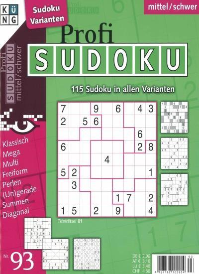 PROFI SUDOKU 93/2020