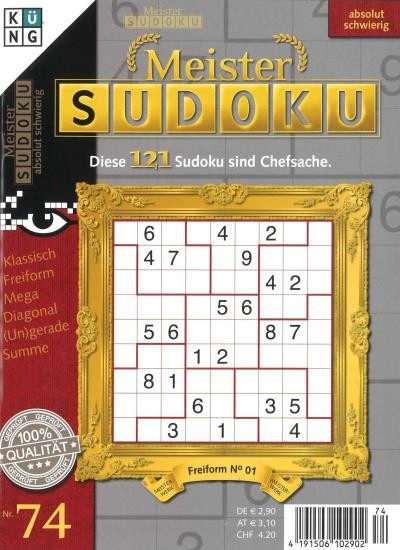 MEISTER SUDOKU 74/2020