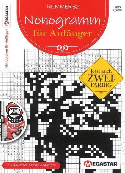 NONOGRAMM FÜR ANFÄNGER 62/2020