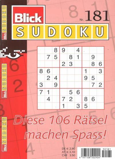 BLICK SUDOKU 181/2021