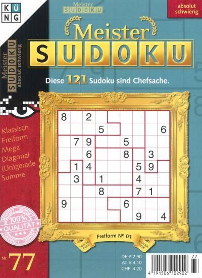 MEISTER SUDOKU 77/2021