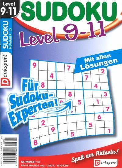 SUDOKU LEVEL 9-11 13/2020
