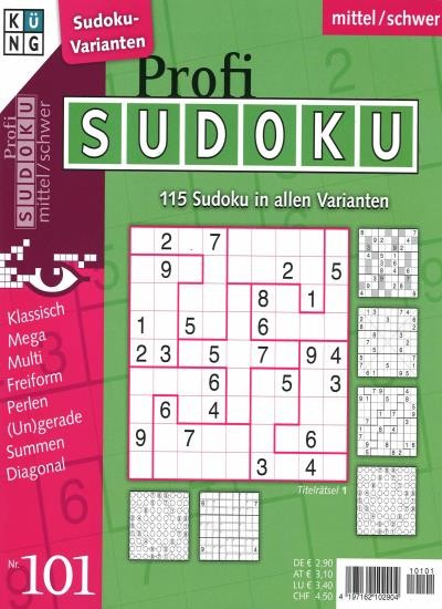 PROFI SUDOKU 101/2021