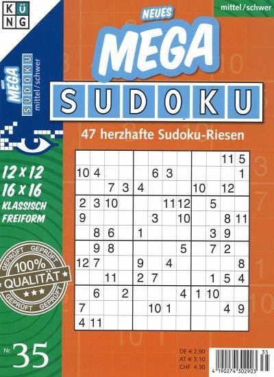 NEUES MEGA SUDOKU 35/2021