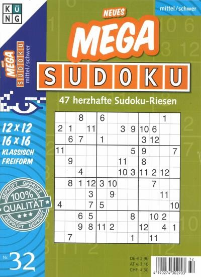 NEUES MEGA SUDOKU 32/2020