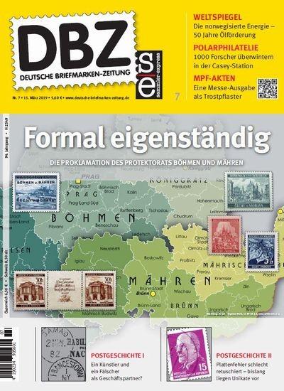 DBZ DEUTSCHE BRIEFMARKEN-ZEITUNG 7/2019