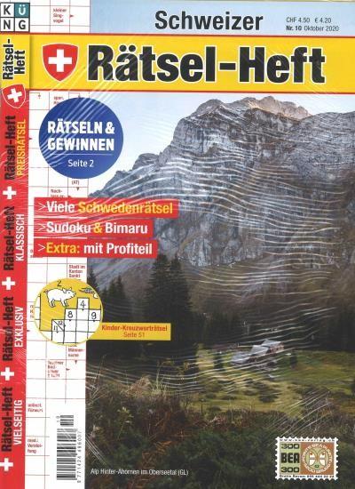 SCHWEIZER RÄTSEL-HEFT 10/2020