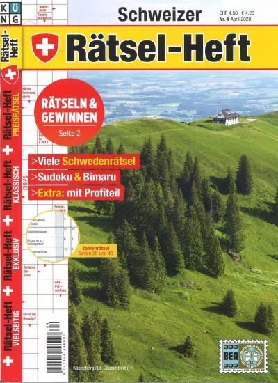 SCHWEIZER RÄTSEL-HEFT 4/2020