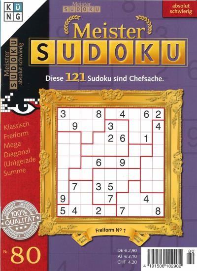 MEISTER SUDOKU 80/2021