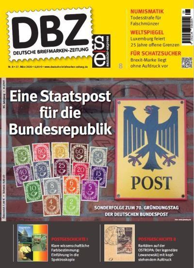 DBZ DEUTSCHE BRIEFMARKEN-ZEITUNG 8/2020