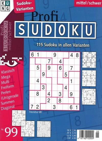 PROFI SUDOKU 99/2021