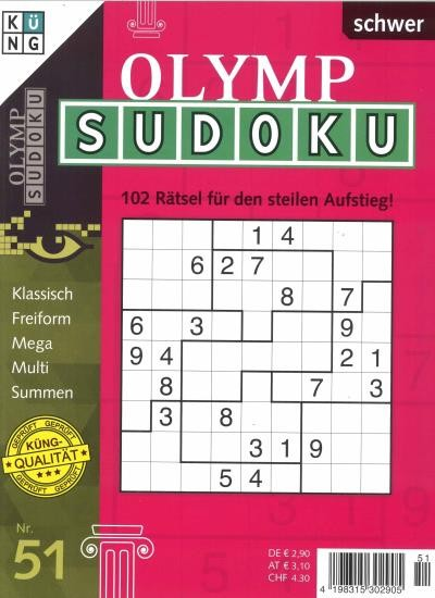 OLYMP SUDOKU 51/2020