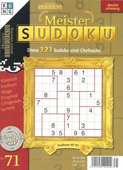 MEISTER SUDOKU 71/2020