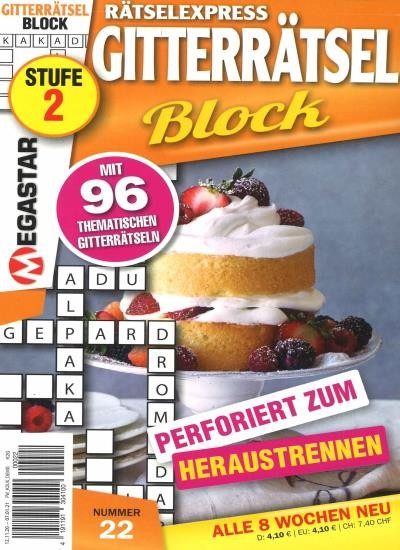RÄTSELEXPRESS GITTERRÄTSEL BLOCK 22/2020