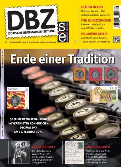 DBZ DEUTSCHE BRIEFMARKEN-ZEITUNG 5/2021