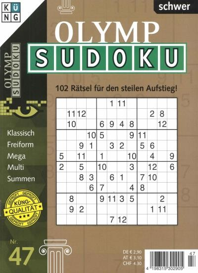 OLYMP SUDOKU 47/2020