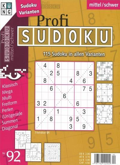PROFI SUDOKU 92/2020