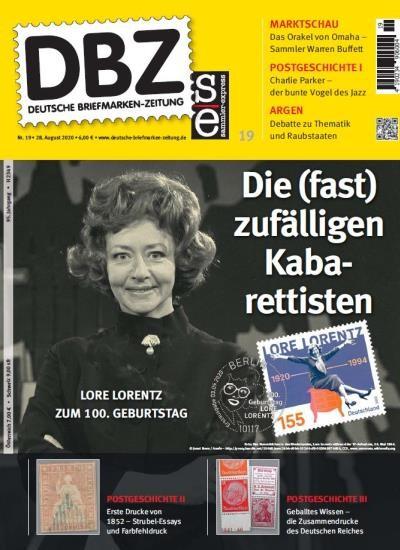 DBZ DEUTSCHE BRIEFMARKEN-ZEITUNG 19/2020