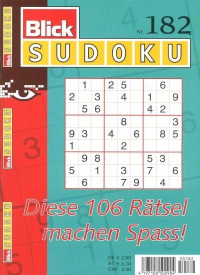 BLICK SUDOKU 182/2021