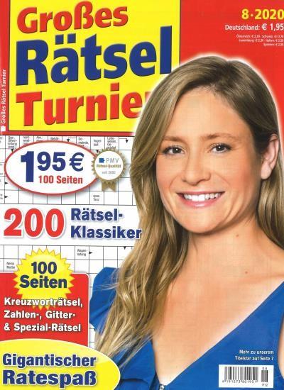 GROSSES RÄTSEL TURNIER 8/2020