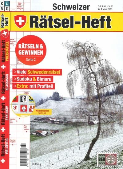 SCHWEIZER RÄTSEL-HEFT 3/2020