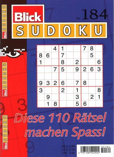 BLICK SUDOKU 184/2021