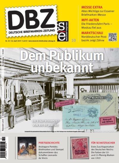 DBZ DEUTSCHE BRIEFMARKEN-ZEITUNG 10/2019