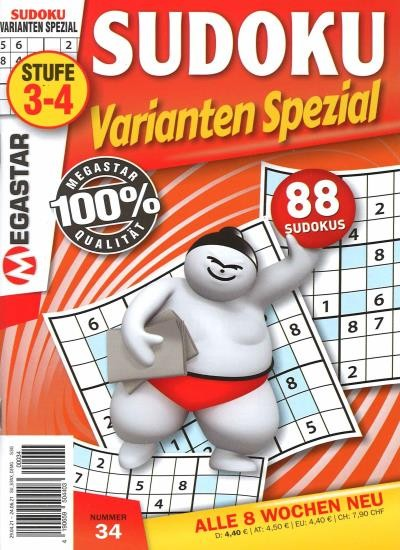 SUDOKU VARIANTEN SPEZIAL 34/2021
