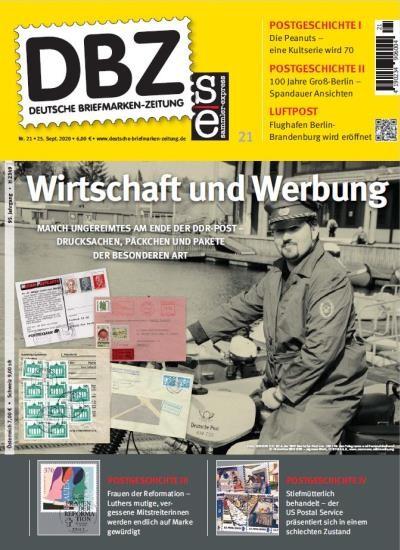 DBZ DEUTSCHE BRIEFMARKEN-ZEITUNG 21/2020