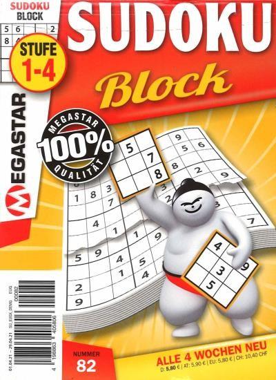 MEGASTAR SUDOKU BLOCK 82/2021