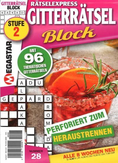 RÄTSELEXPRESS GITTERRÄTSEL BLOCK 28/2021