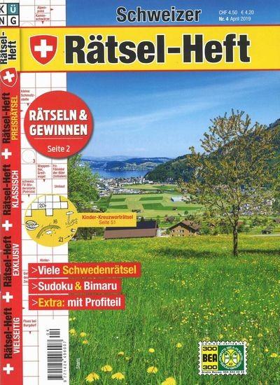 SCHWEIZER RÄTSEL-HEFT 4/2019