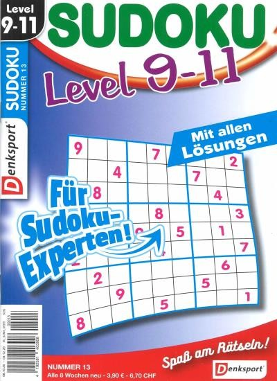 SUDOKU LEVEL 9-11 Abo