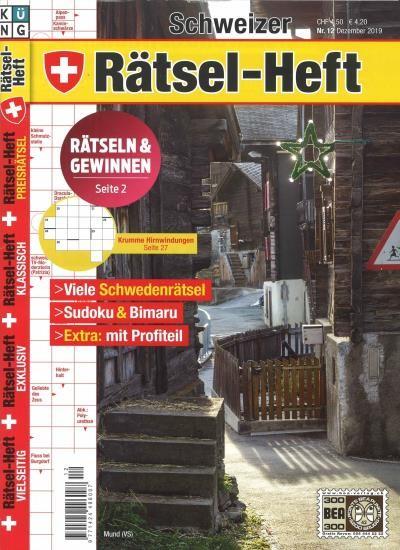 SCHWEIZER RÄTSEL-HEFT 12/2019